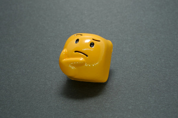 Thinking face keycap