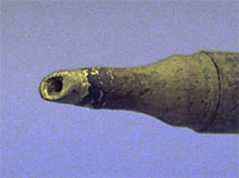 Corrosion of soldering tip