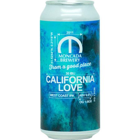 California Love West Coast IPA - Moncada Brewery