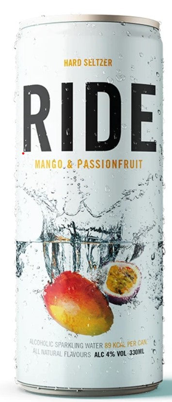 Ride Hard Seltzer - Mango and Passionfruit -  330ml can