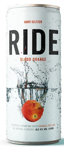 Ride Hard Seltzer - Blood Orange -  330ml can - 4%