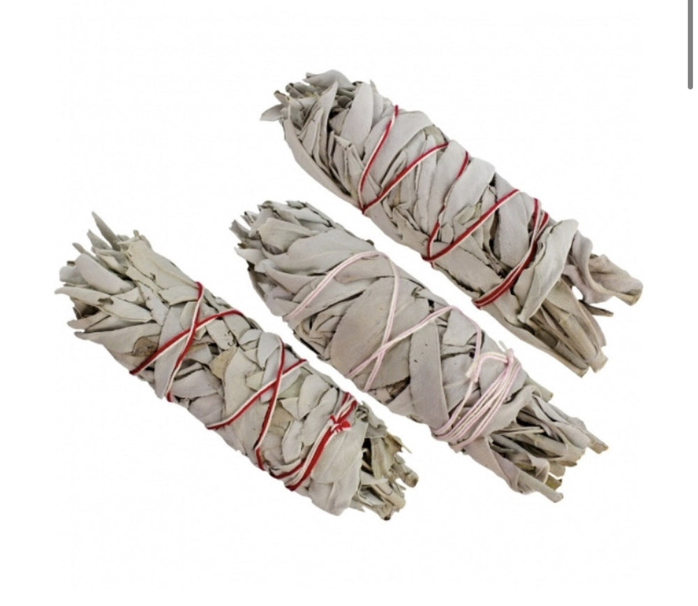"Medium 5""-6"" White Sage Smudge Stick (one stick)"