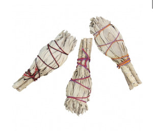 Mini California White Sage Smudge Stick (one stick)