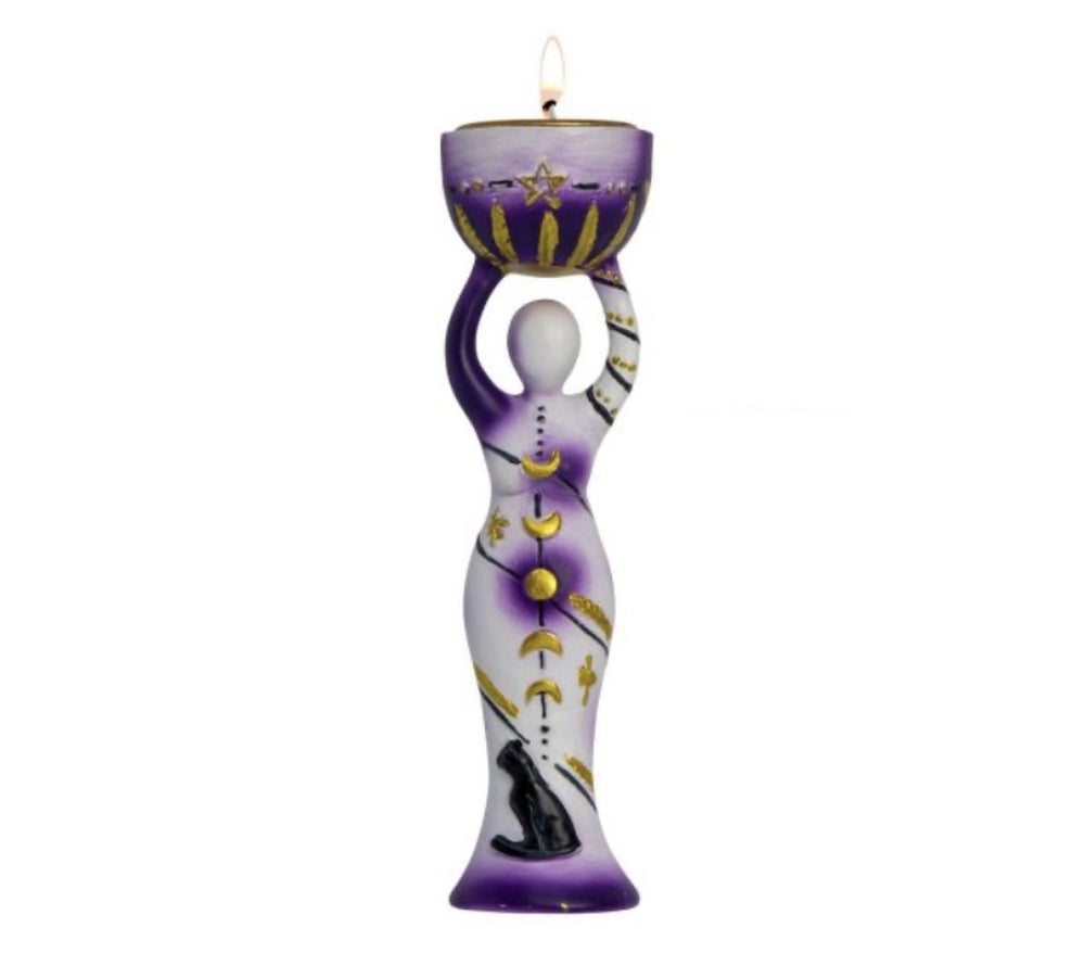 Purple Moon Goddess T-Light Candle Holder