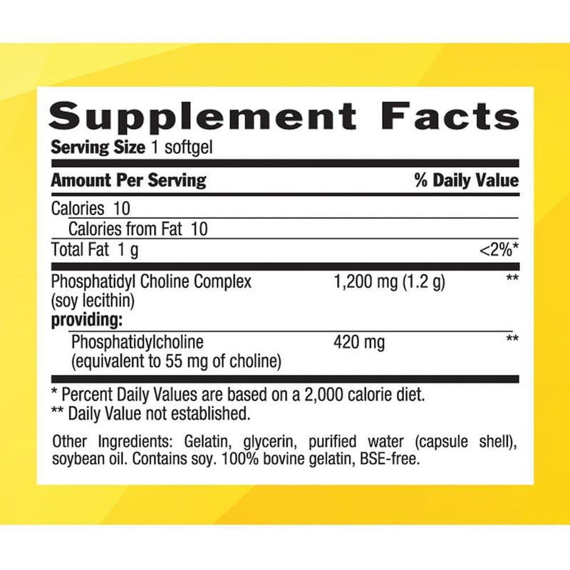Country Life Phosphatidyl Choline Complex 1200mg -- 200 Softgels