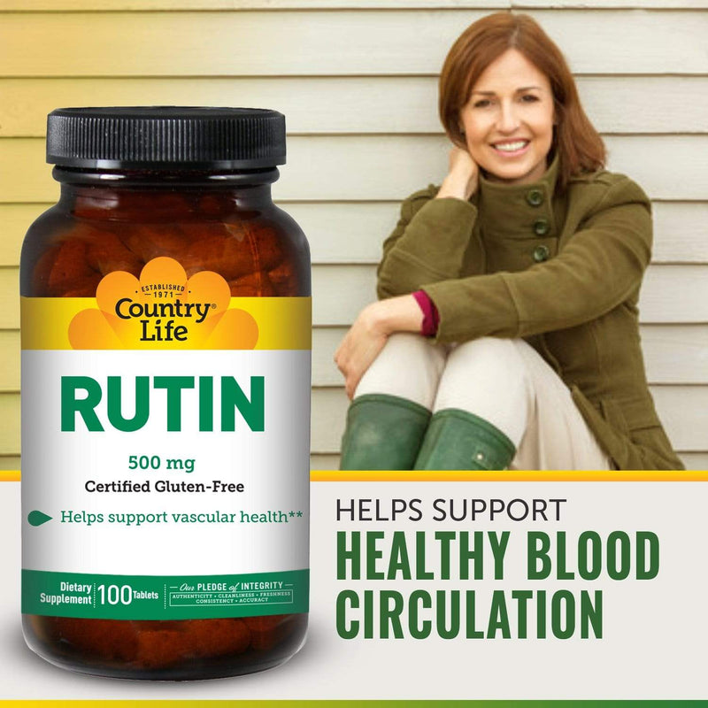Country Life Rutin 500mg -- 100 Tablets