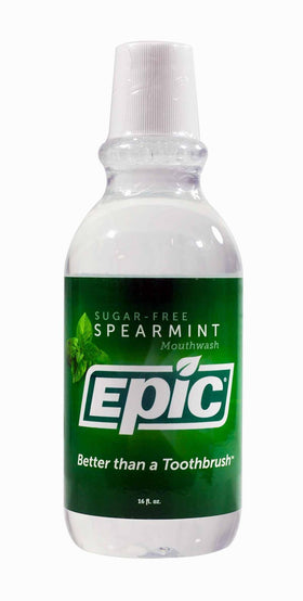 Epic Dental Spearmint Xylitol Mouthwash -- 16-Ounce (Pack of 2)