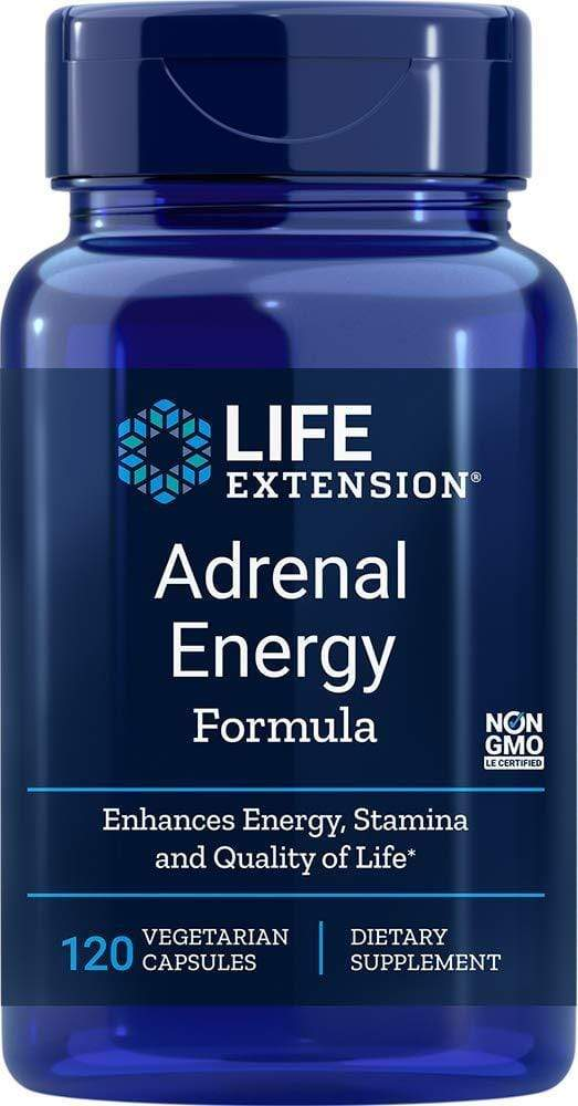 Life Extension Adrenal Energy Formula -- 120 Vegetarian Capsules