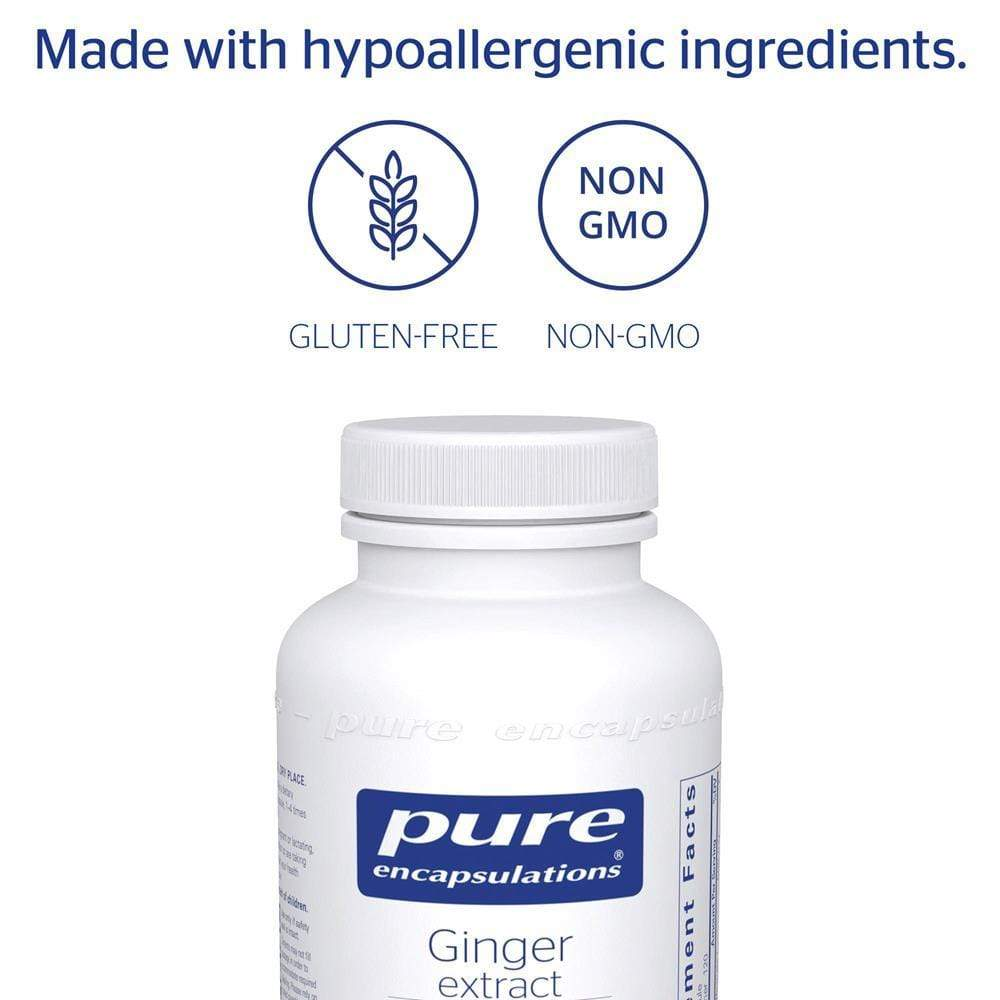 Pure Encapsulations Ginger Extract -- 120 Capsules