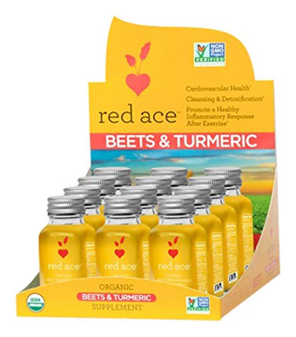 Red Ace Organic Beet and Turmeric Shot -- 12 Unit Box