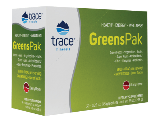 Trace Minerals Greens Pak -- 30 Packets