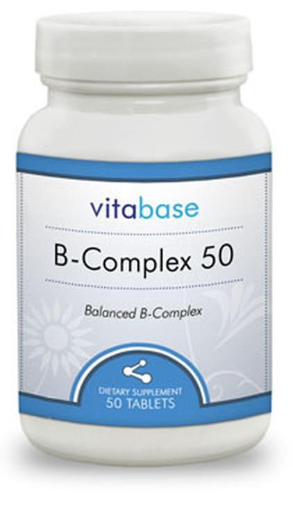 Vitabase B-Complex (50 mg Sustained Release) -- 100 Tablets