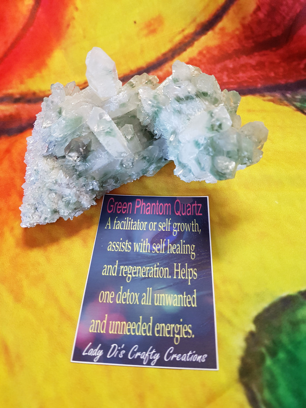 Green Phantom Quartz Geode