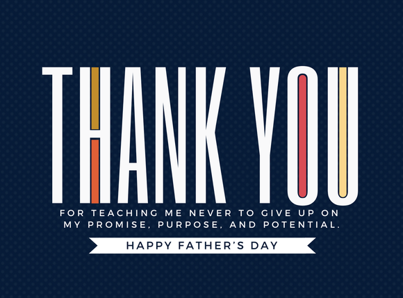 Father's Day Card - Navy