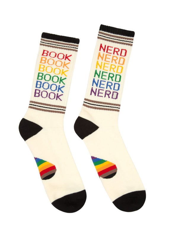 Out of Print Book Nerd Pride gym socks
