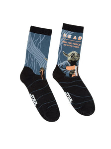 Out of Print Yoda Star Wars READ socks