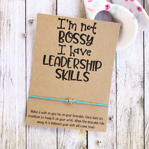 I'm Not Bossy, Leadership Skills