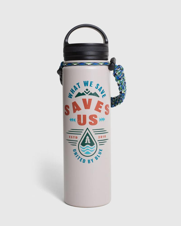 United by Blue What We Save 22oz Insulated Steel Water Bottle