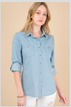 Chambray Solid Button Down