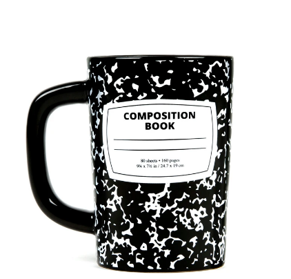 Out of Print Composition Mug