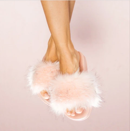 Faceplant Dreams Furry Pink Slides