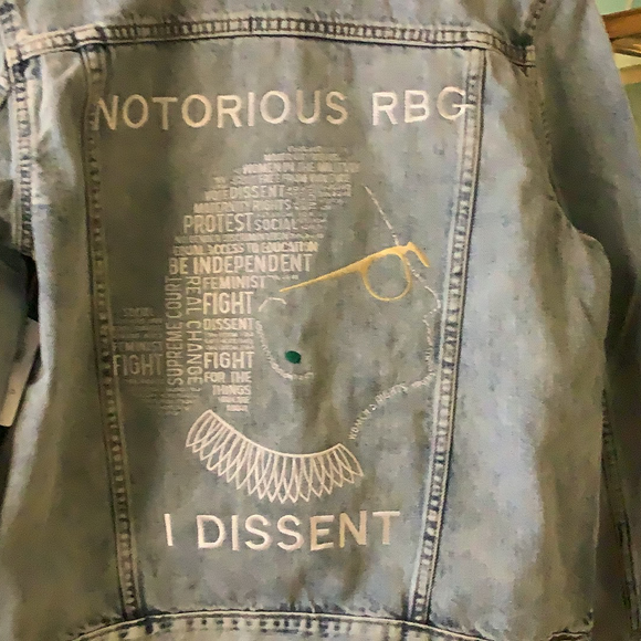 Notorious RBG embroidered jacket