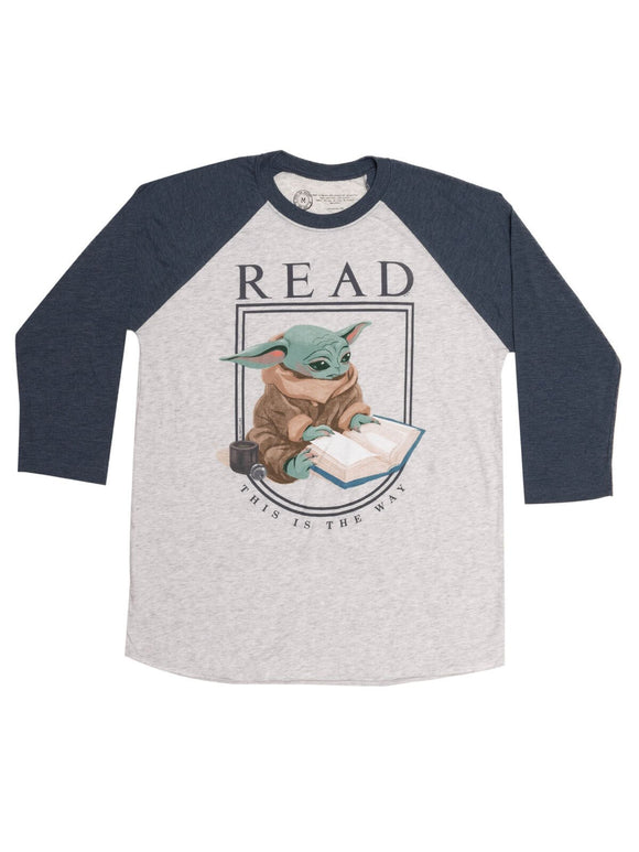 Out of Print READ Baby Yoda Raglan Tee