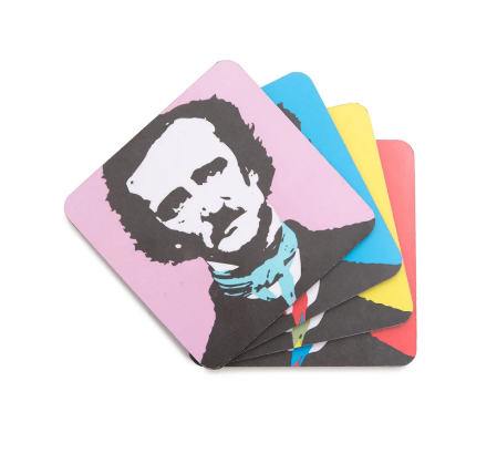Out of Print Pop-Poe Coaster set