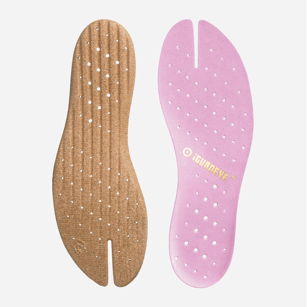Freshoes Suede leather insoles Misty Rose