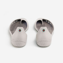 Load image into Gallery viewer, Freshoes Light Grey with the Suede leather insoles Ash Grey rear view