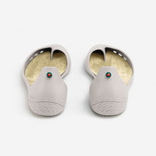 Load image into Gallery viewer, Freshoes Light Grey with the Vegan leather insoles Beige rear view