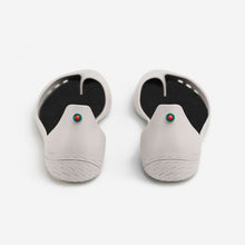Load image into Gallery viewer, Freshoes Light Grey with the Waterproof leather insoles Black rear view