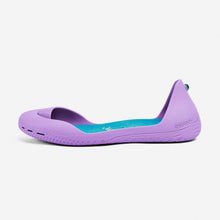 Charger l'image dans la galerie, Freshoes Lilas with the Suede leather insoles Turquoise Blue side view