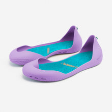 Charger l'image dans la galerie, Freshoes Lilas with the Suede leather insoles Turquoise Blue perspective view