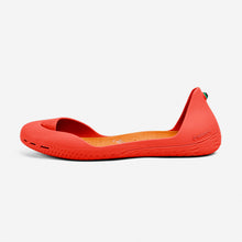 Load image into Gallery viewer, Freshoes Pepper Red with the Suede leather insoles Amber Orange side view
