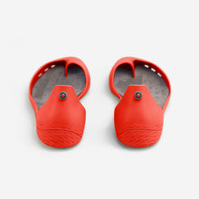 Load image into Gallery viewer, Freshoes Pepper Red with the Suede leather insoles Ash Grey rear view