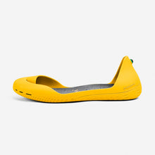 Load image into Gallery viewer, Freshoes Yellow Sun with the Suede leather insoles Ash Grey side view