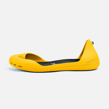 Load image into Gallery viewer, Freshoes Yellow Sun with the Vegan insoles Black side view