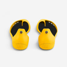 Load image into Gallery viewer, Freshoes Yellow Sun with the Waterproof insoles Black rear view
