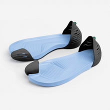 Load image into Gallery viewer, Jungle Light Black with Blue soles perspective view