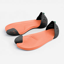 Load image into Gallery viewer, Jungle Light Black with Orange soles perspective view