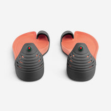 Load image into Gallery viewer, Jungle Light Black with Orange soles rear view