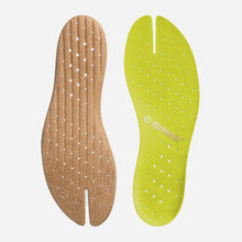 Load image into Gallery viewer, Freshoes Suede leather insoles Yellow Green