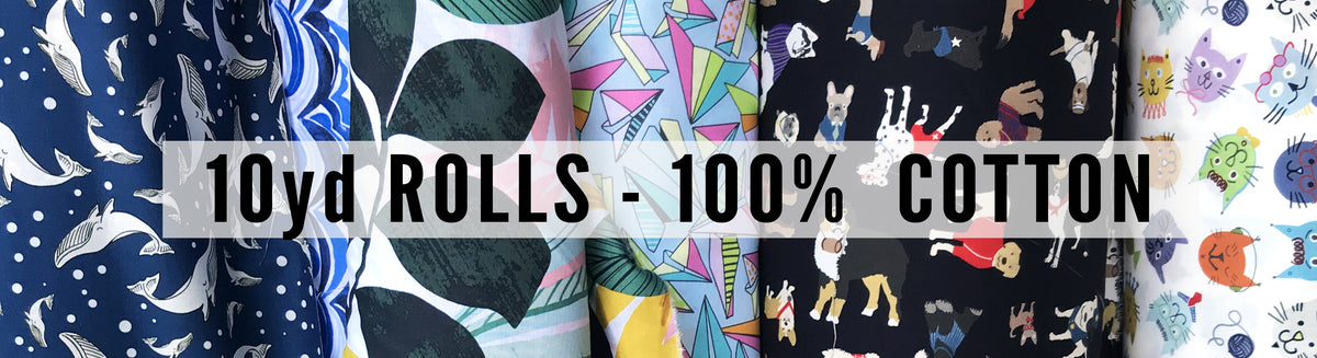 10 Yard Rolls - 100% Cotton (Uncoated)