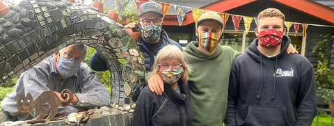 Krauter family wearing masks coronavirus