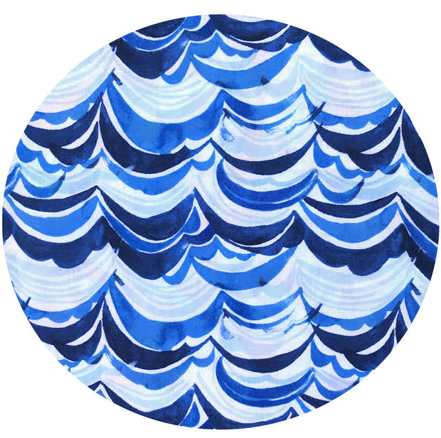 WAVES Fabric 10yd Roll - 100% Cotton (Uncoated) 1
