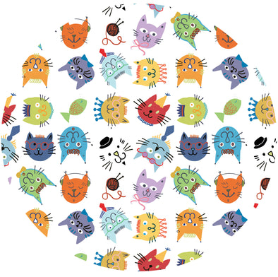 COOL CATS Fabric - Laminated Cotton - by the yard - OUT OF STOCK until November