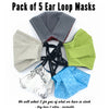 Cotton Face Masks · ON SALE · Choose Ties or Loops - BUY ONE · GIVE ONE