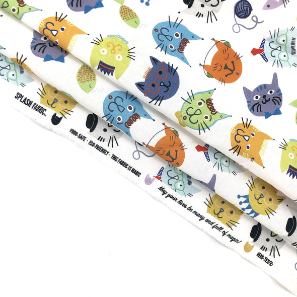 COOL CATS Fabric - 100% Cotton (Uncoated) - 10yd Roll