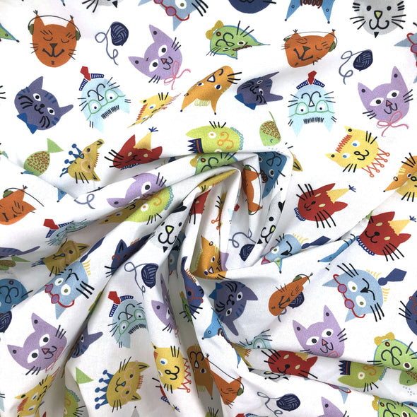 COOL CATS Fabric - 100% Cotton (Uncoated) - by the yard